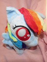 Itty Bitty Rainbow Dash Chibi by buttsnstuff