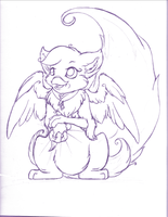 Keet Sketch, Possible WIP by Bitterlimeparakeet