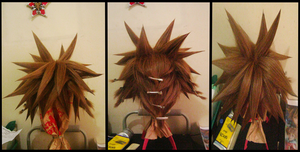 Sora Wig Progress . by WINGEDLESS