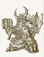dwarf warrior by KasKa87