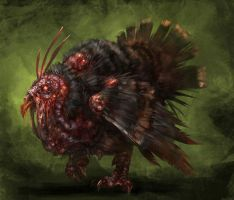 zombie turkey by Wildforge