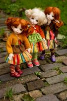 Three little Yo-SD girls by Meikemuis