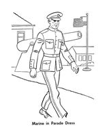 Marine In Parade Dress by Writer-Colorer
