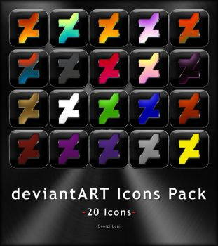 deviantART Icons Pack by ScorpiiLupi