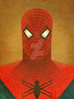 Minimalist Heroes: Spider-Man by jeffjanelle