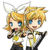 Rin and Len by studiomarimo