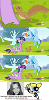 Twilight Sparkle and Squirrels by DaniruuEchidna