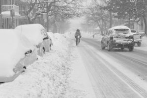 2015 February Snow Storm, Biking and Driving by Miss-Tbones