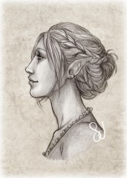 Sketch Raffle - Frederique by SerenaVerdeArt