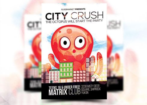 City Crush Flyer Template by Flyermarket