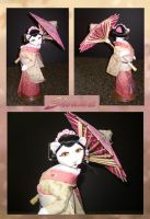 Shoumei Feline Geisha by crokittycats