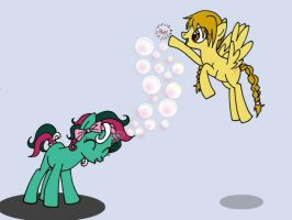 Bubble, bubble, bubble...POP! by fly-buggy