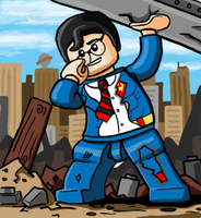 Lego Clark Kent by Catanas192