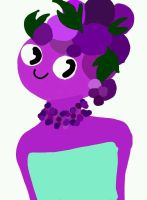 dumb looking grape princess by claire8762