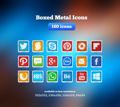 Boxed Metal Icons by Martz90