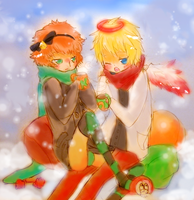 Fat snowmen c: by PinWheelOf