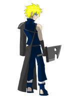 Naruto cosplays as Cloud by leonardo1123581321