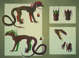 3. Sparky and Greeny ref by Spastical-Hyena