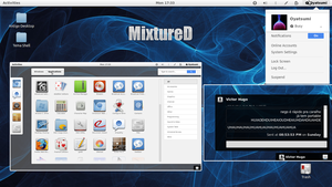 MixtureD Gnome Shell Theme (icons + shell + theme) by oyatsumi