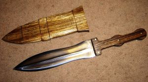 Pugio with wooden sheath by HellfireForge
