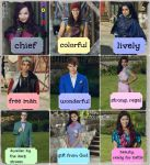 Descendants Characters' Name Meanings by Orange-FeatherCanary