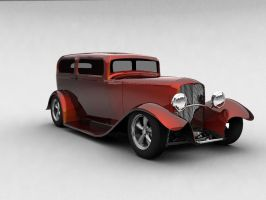 1932 Ford Tudor Sedan - Orange by todd587