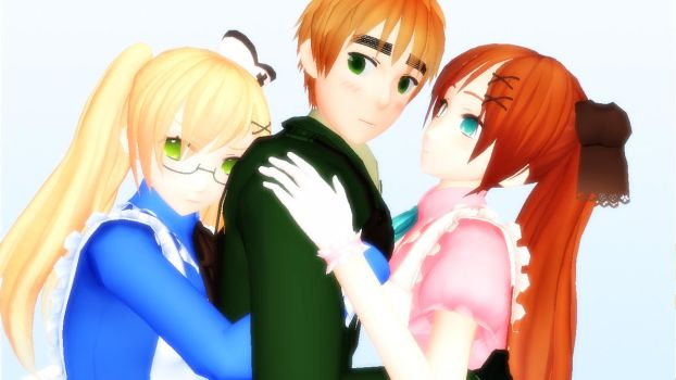 MMD: Arthur and Alice (x2) by Free-Beloved-Army