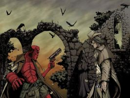 Hellboy Vs. Saint of Killers by cizgi