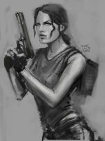 Lara Croft. Classic look by LeksaArt
