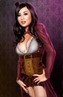 Steampunk Lady Tia by Dinoforce
