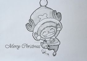 Chopper Merry Christmas by ViivaVanity