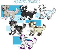Puppeh Point Adopts :3 -OPEN- by rainwolfeh