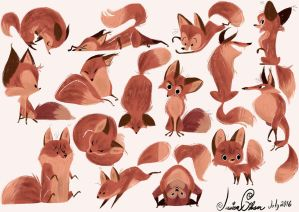 Lots of Foxes by Jazzekat