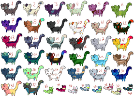 Kitty adopts, 5 points each! (CLOSED) by Aqua-Adopts22
