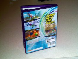 Sonic Free Riders Back Cover by DerpyDash64