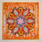 Orange and Red Floral by slipslopslap