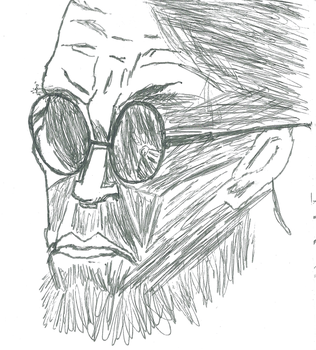 Hugo Strange Stylized Sketch (Arkham City) by ParadigmFallen