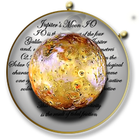 Steampunk Planetary Data Icon - IO by yereverluvinuncleber