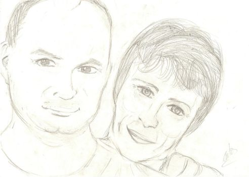 Portrait of my parents by Stellaza