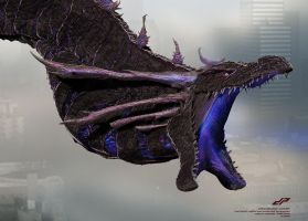 zSHIN GHIDORAH concept: middle head, split jaw by dopepope