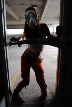 Female Psycho Borderlands Cosplay by fireandroses