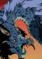 Blue Dragon by VegaBone