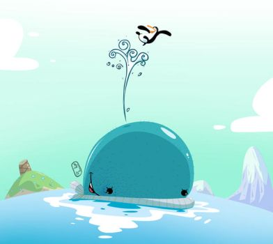 the whale and penguin by tawfi2