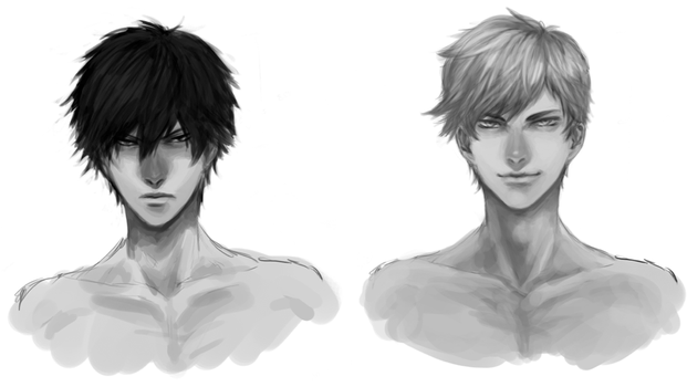 male frontal headshot tutorial by 2943