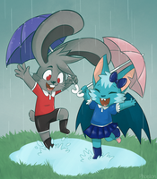 AT: Rainy Day by Phoelion