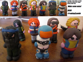 MCR Modeling Clay Killjoys by FreakingCyanide