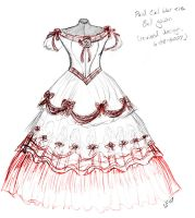 REVISED Plaid Ballgown design by Spirit-of-the-Mist