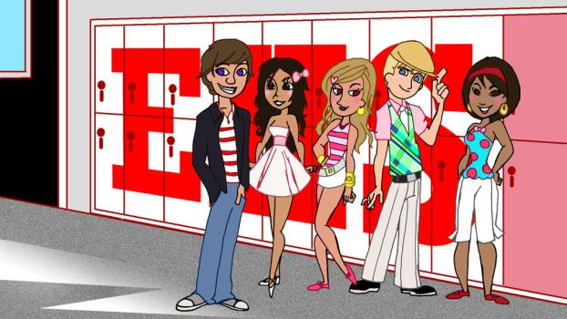 High School Musical -animated- by CarbonF