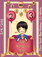 Happy Belated Birthday Infinite Nam Woohyun by xxxRinRulesxxx
