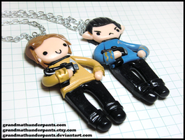 Spock and Kirk BFF Set by GrandmaThunderpants